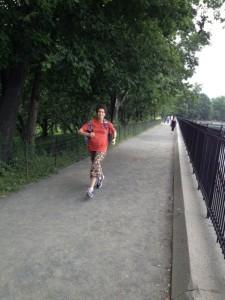 כמה דקות ריצה בסנטרל פארק-ניו-יורק
