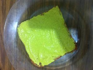פרוסת גבינה ירוקה