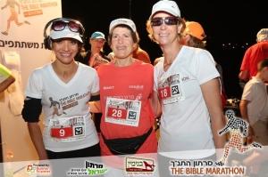 מימין לשמאל: יהודית גולן, יעל שמש, רונית אושפיזאי