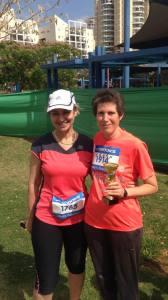 עם סוניה - בסיום המרוץ