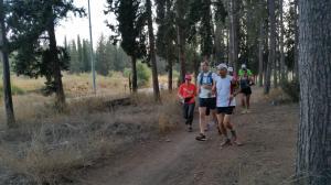 ריצה לאורך הסינגל הכחול ביער בן שמן