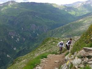 עם עידית סעד במעלה ההר. צילום: קארין אילת