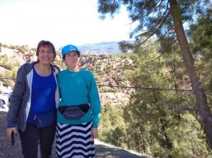 עם בלהה בטיול להרי האטלס. צילמה: יעל נשגב