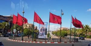 רואים את כרזת המרתון המסתתרת בין כל דגלי מרוקו? כך קידמה את פנינו מרקש ביום הנחיתה